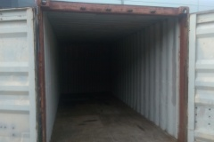 Laden containers